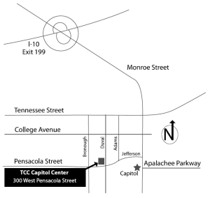 Map to TCC Capitol Center