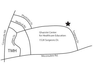 Map to Ghazvini Center for Healthcare Education